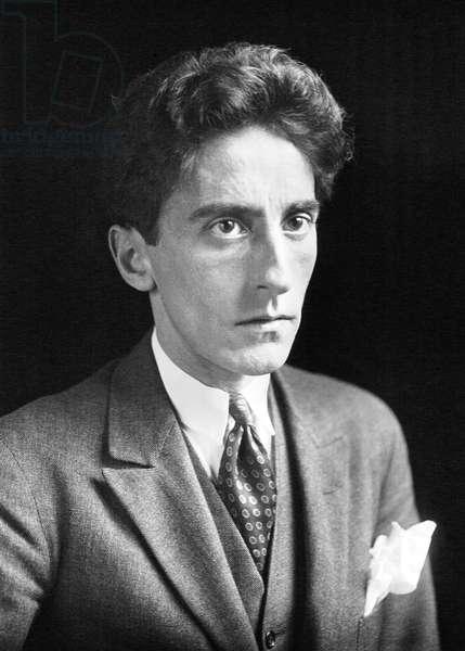 France: Jean Cocteau, French poet, novelist, dramatist, designer, playwright, artist and filmmaker (1889-1963), 1923