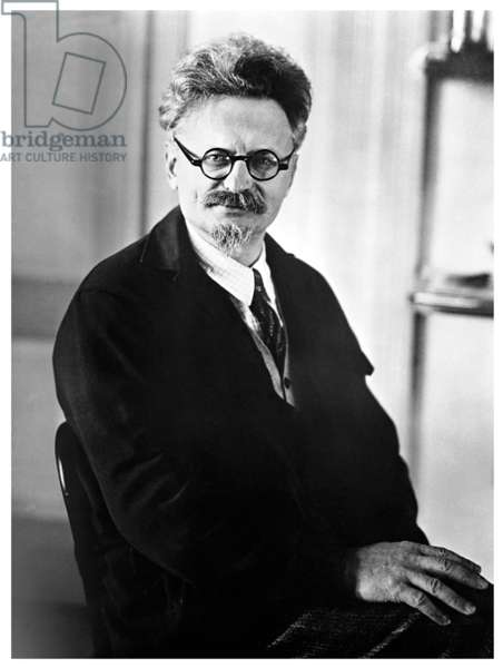 Russia: Leon Trotsky, founder and first leader of the Red Army, in exile c. 1935