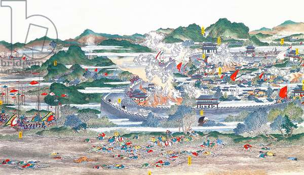 China: Qing forces regaining the provincial city of Anqing (Taiping Rebellion, 1850-1864)