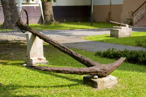 Thailand: Ancient anchor in the grounds of the Nakhon Sri Thammarat National Museum, Nakhon Sri Thammarat