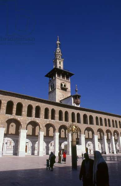 Syria: Minaret of the Bride and the central courtyard, Umayyad Mosque, Damascus (1998)