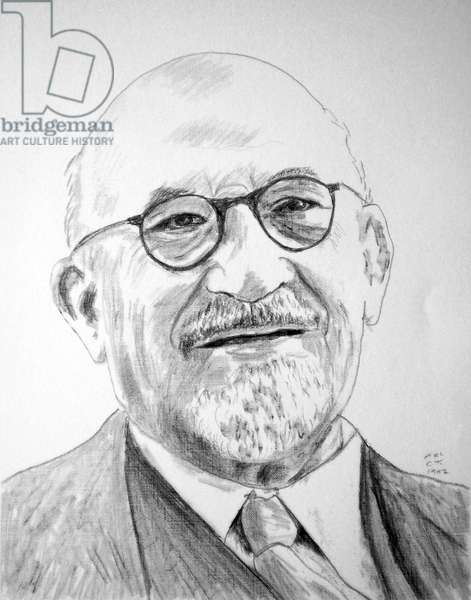 Israel/Palestine: Israeli statesman and politician Chaim Weizmann (1874-1952), portrait by Chaim Topol, 1997