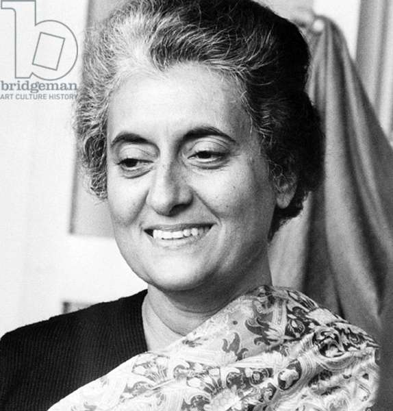India: Indira Gandhi (1917-1984), Prime Minister of India for four consecutive terms, 1966-1984.