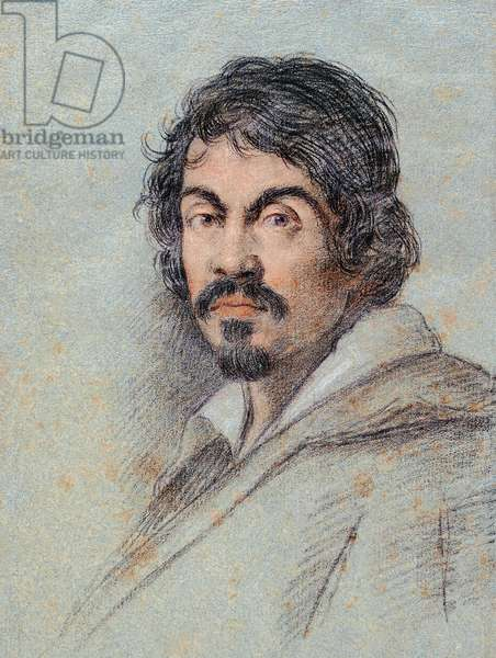Portrait of Michaelangelo Merisi da Caravaggio, c.1621 (chalk on paper)