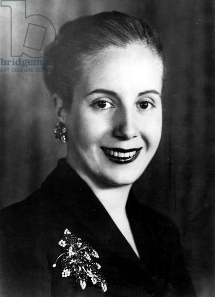 Argentina: Eva Peron (1919-1952), First Lady of Argentina 1948-1952, Buenos Aires, 1949
