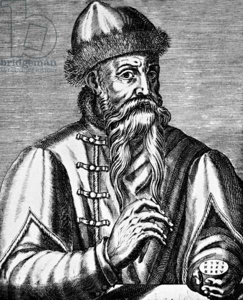 Germany: Johannes Gutenberg (c. 1398 - February 3, 1468) the printer and publisher who introduced the first European printing press