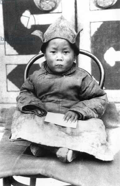 China / Tibet: The 14th Dalai Lama, Tenzin Gyatso (1935- ) as a child in Amdo shortly after being identified as the reincarnation of the 13th Dalai Lama