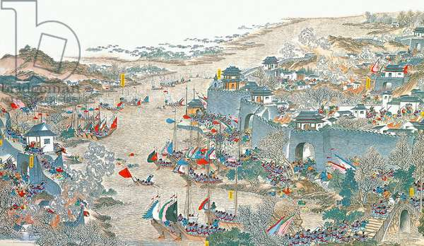 China: Qing forces capturing Wuchang city (Taiping Rebellion, 1850-1864)