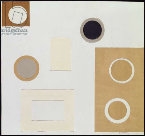 Circle, Brown and Grey, 1965 (collage)
