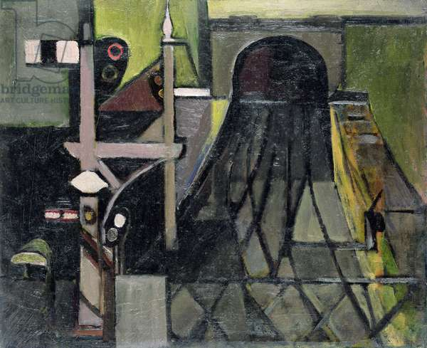 The Tunnel, 1949-50 (oil on canvas)
