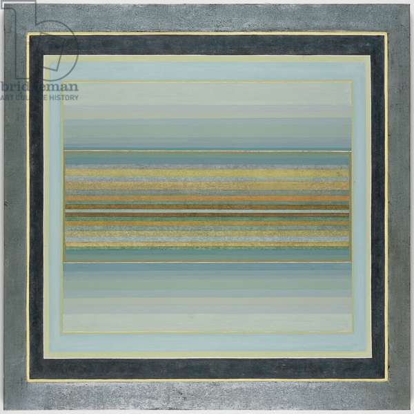 Janicon XLII, 2001 (silver and gold leaf on canvas)