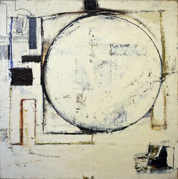 Supported Circle, 1964 (oil on canvas)