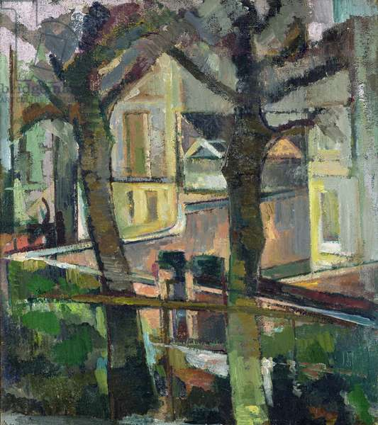 Canynge Trees, 1947-48 (oil on canvas)