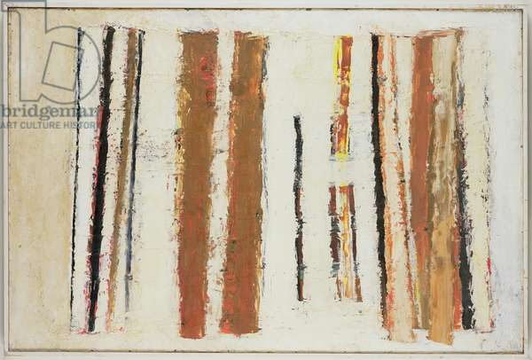 White, Sienna and Black, 1956 (oil on board)
