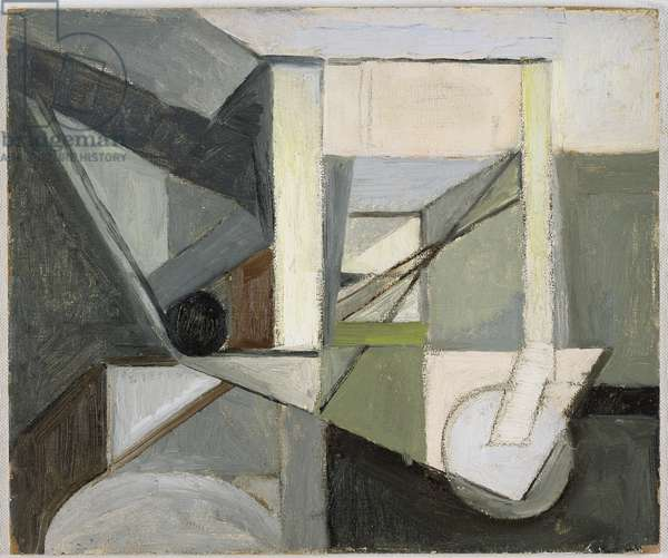 The Railway, 1949/50 (oil on board)
