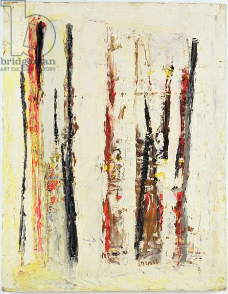 Newlyn Red and Black, 1956 (oil on board)
