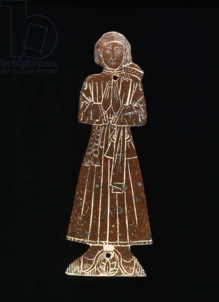A Medieval church brass, 14th (brass)