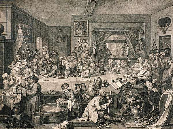 An Election Entertainment, from 'The Works of William Hogarth', published 1833 (engraving)