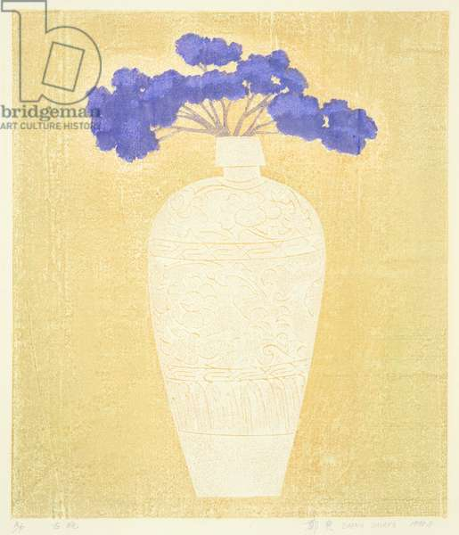 Old Vase (Guping) 1998 (colour woodcut)