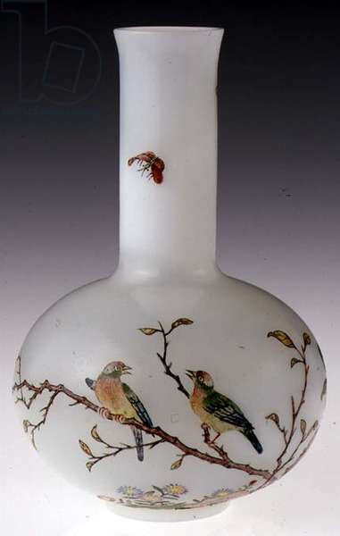 Miniature Vase, Chinese, 20th century (enamelled glass)