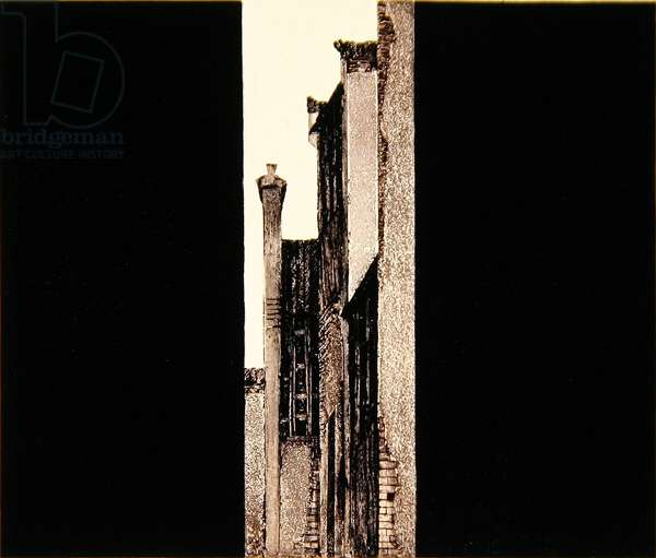 Ancient Alley (Guxiang) 1998 (woodcut)
