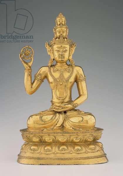 Vajrasattvadhatu Lokesvara (gilt copper alloy)