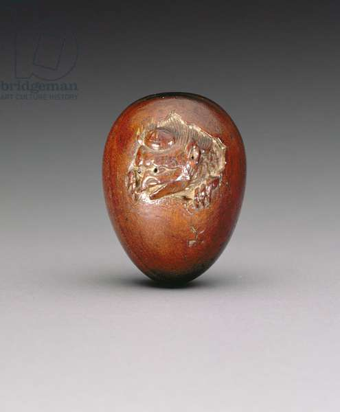 Netsuke depicting a crow emerging from its egg, c.1800-20 (softwood)