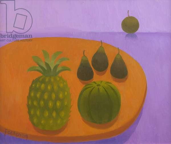Pineapple on Orange, 2009 (oil on canvas)