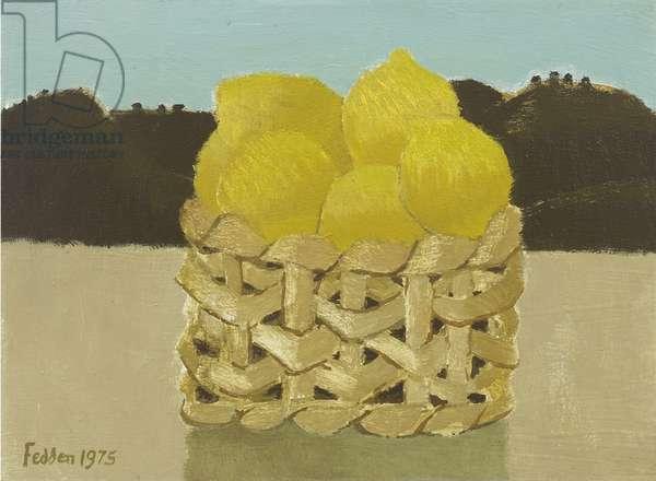 Basket of Lemons, 1975 (oil on canvas)