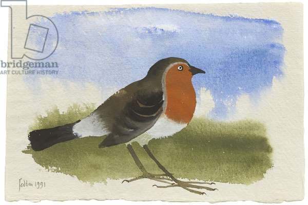 The Robin, 1991 (gouache on paper)