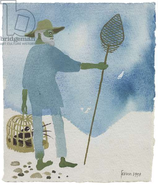 Julian and the Lobster Pot, 1998 (gouache on paper)