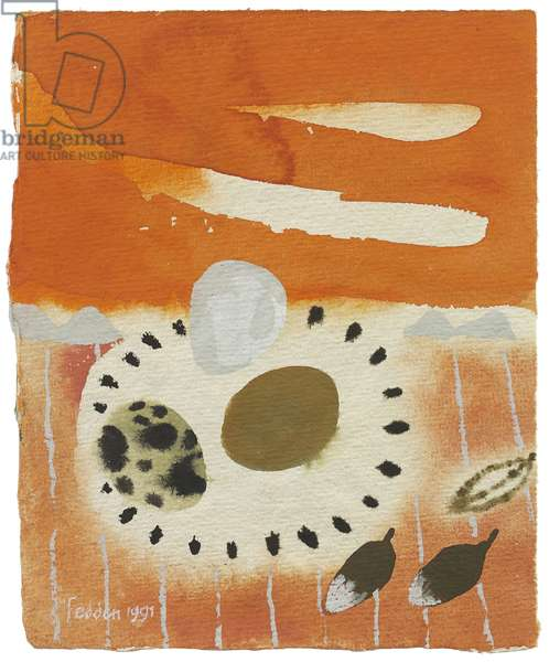 Still life with Eggs, 1991 (gouache on paper)