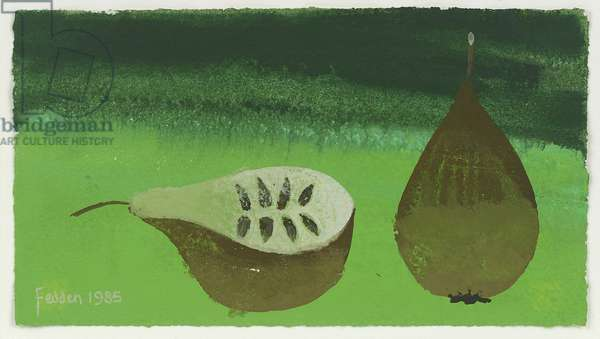 Two Pears, 1985 (gouache on paper)