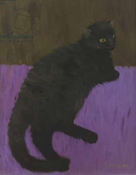 Lulu on Purple, 1991 (oil on canvas)