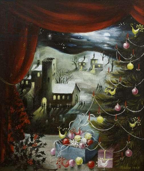 Christmas Scene, 1948 (oil on canvas)