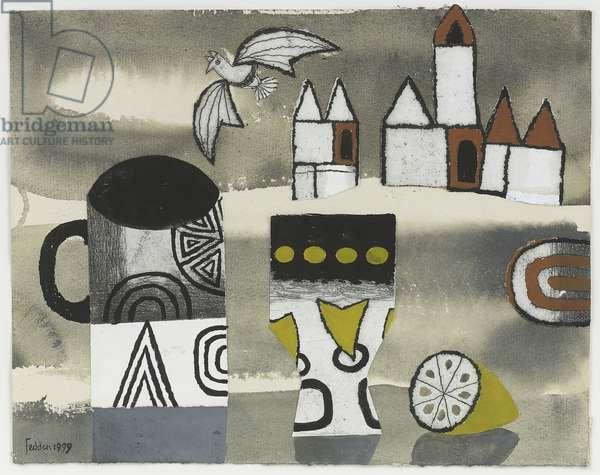 Mug with Lemon, 1999 (collage)