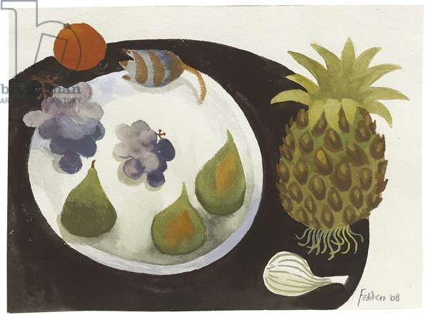Still Life of Fruit and Vegetables, 2008 (gouache on paper)