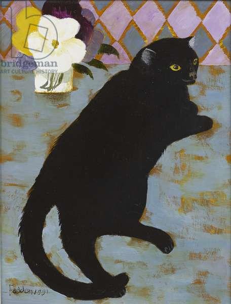 Lulu, 1991 (oil on board)
