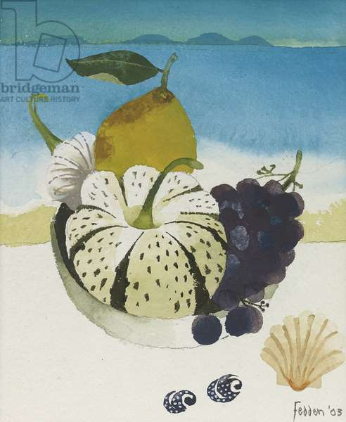 Still Life by the Sea, 2003 (gouache on paper)