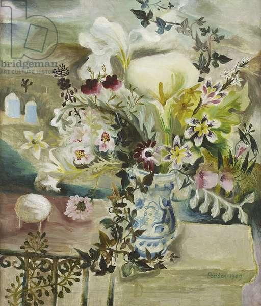 Sicilian Flowers, 1949 (oil on canvas)