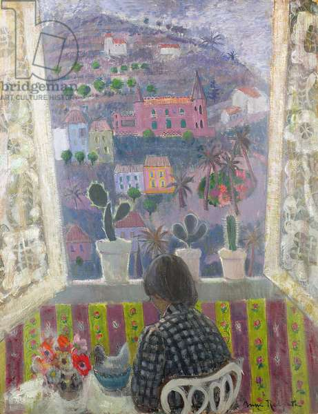 Window in Menton (oil on canvas)