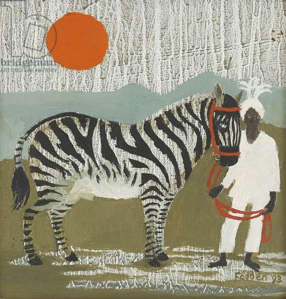 The Zebra, 1993 (oil on board)