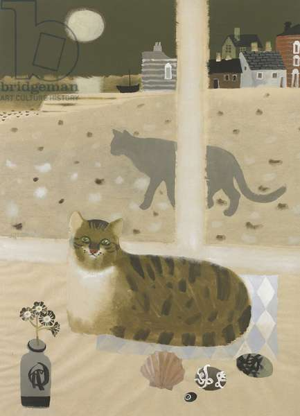 Cats by the sea, 1983 (gouache on paper)