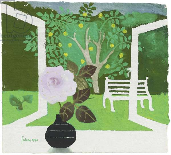 Garden View, 1990 (gouache on paper)