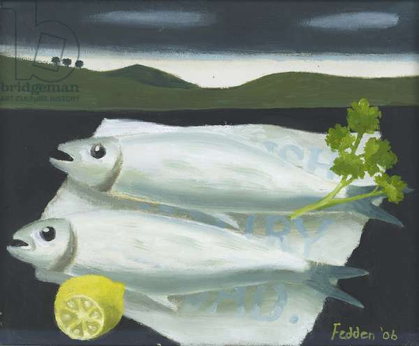 Two Fish, 2006 (oil on board)
