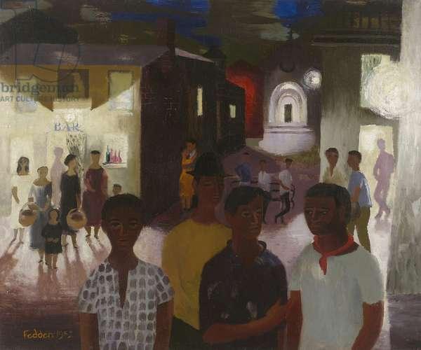 Night Scene Majorca, 1952 (oil on canvas)