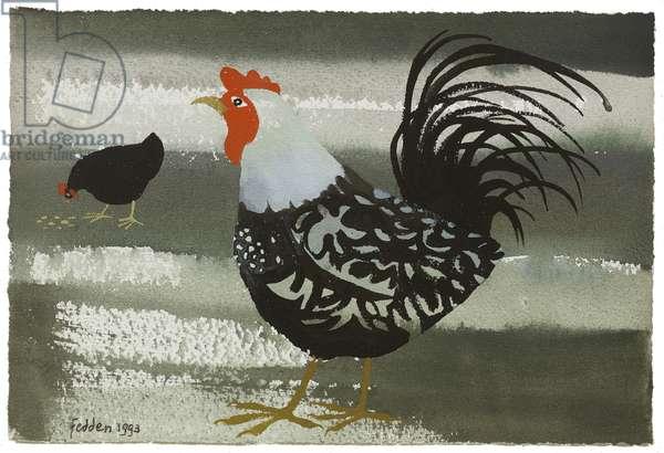 Farmyard, 1993 (gouache on paper)