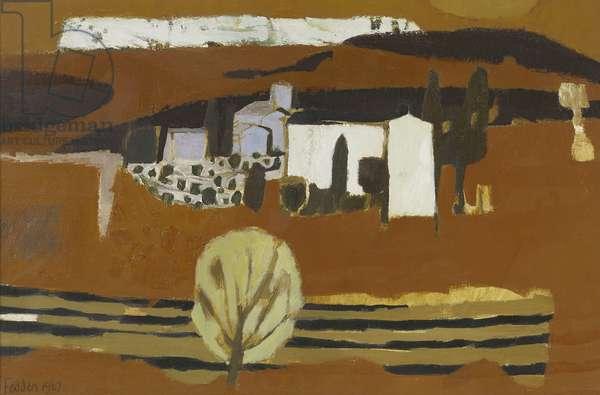 Landscape, 1967 (oil on canvas)