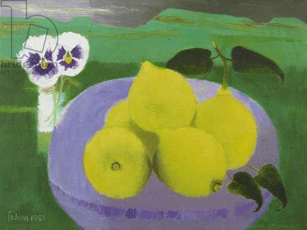 Lemons, 1985 (oil on canvas)