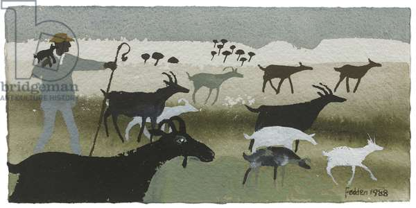 The Goatherd, 1988 (gouache on paper)